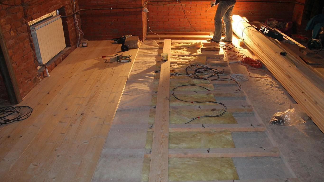 Как постелить деревянный пол в гараже