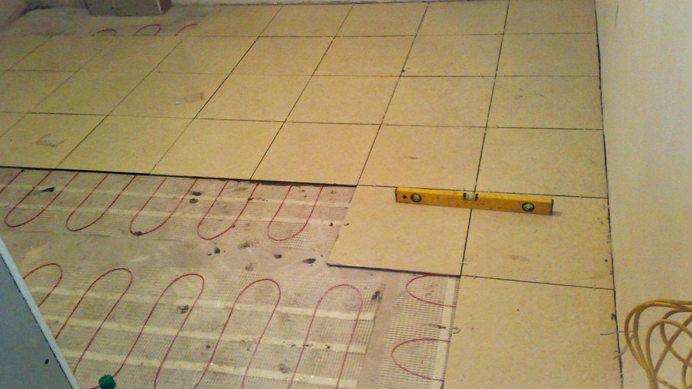 Теплый пол на кухне под плитку водяной своими руками 22
